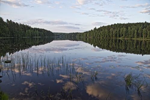 trees party summer sky sun lake reflection nature clouds forest suomi finland landscape mirror cabin mid maisema metsä juhannus mökki kesä luonto pilvet järvi aurinko heijastus puut taivas peili tyyni pläkä