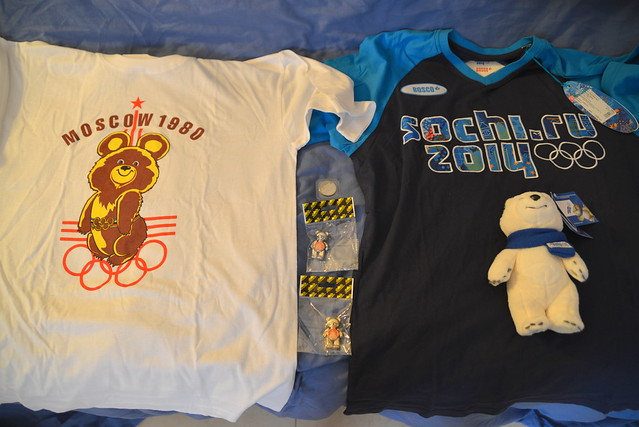 My New T shirts!!! & Bely Mishka, The Official Mascot Of Sochi 2014