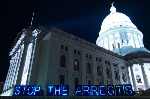 Capitol Message Against SSA Arrests 8/2013