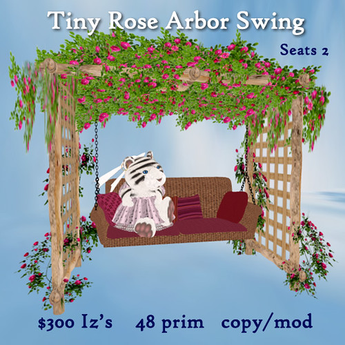 Tiny Rose Arbor Swing by Teal Freenote