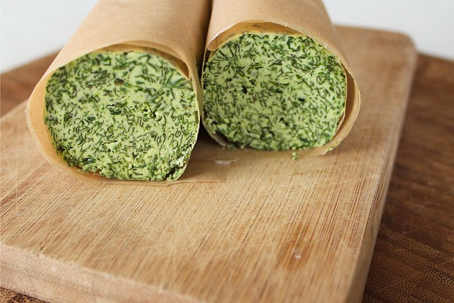 basil-chive compound butter