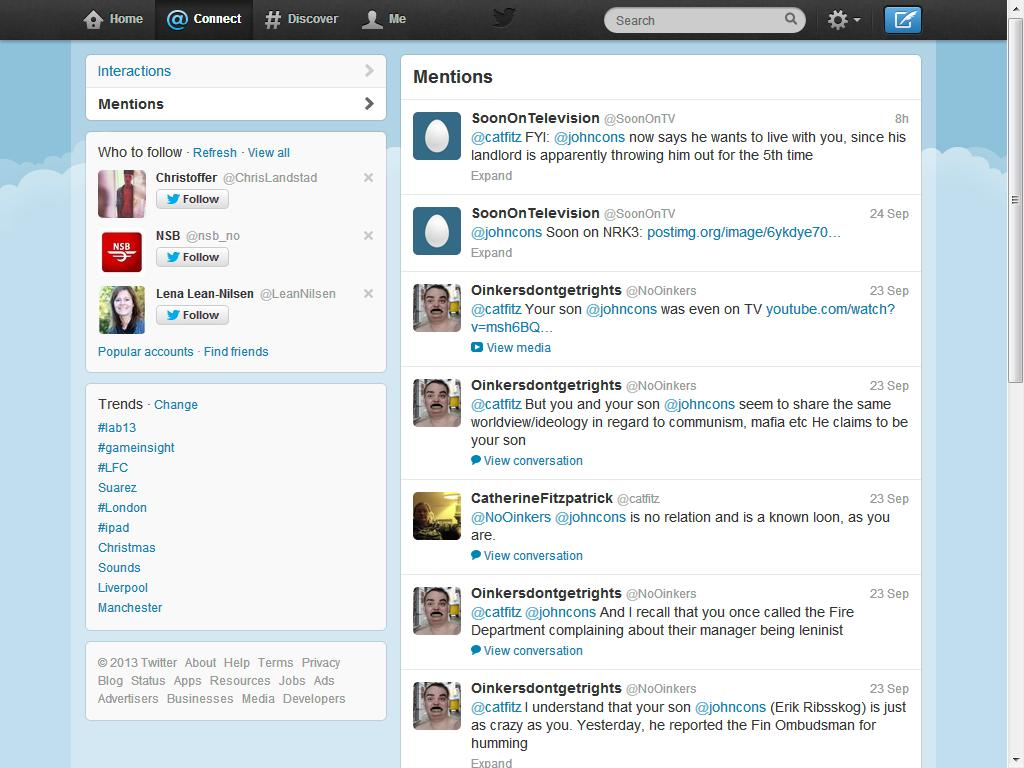 mer trakassering fra twitter