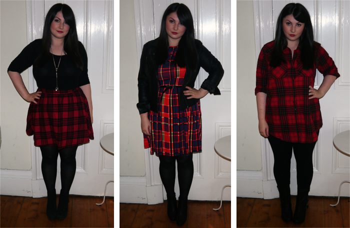 how to wear grunge plaid trend outfit 8