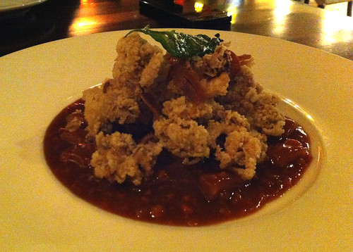 Salt and pepper crispy octopus