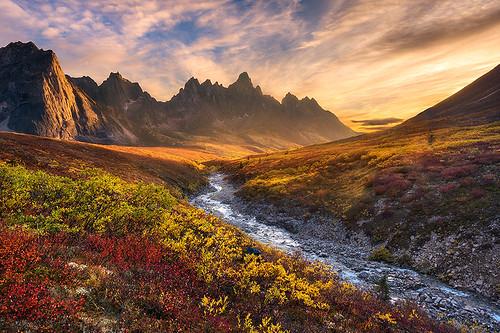 autumn sunset fall tombstones ogilviemountains tombstonemountain