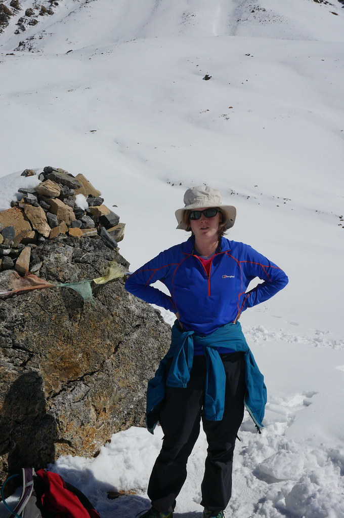 Annemarie near the Thorong La Pass