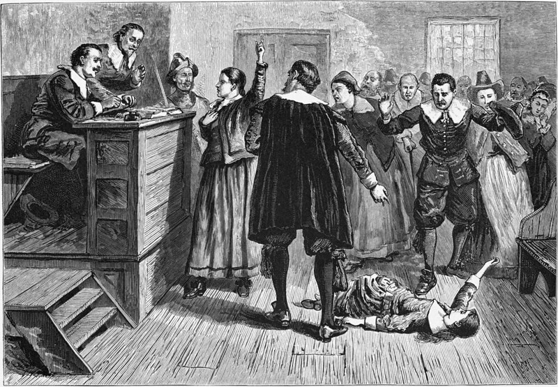 Witchcraft at Salem Village. Engraving by William A. Crafts