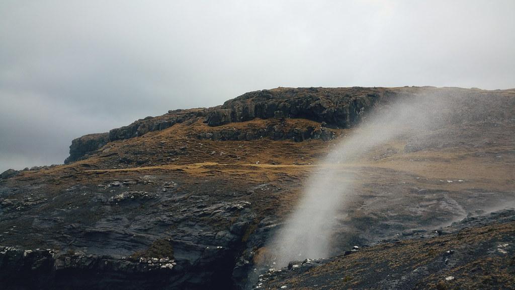 Faroe Islands strange waterfalls - Eiði