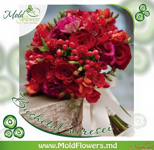 Флористический салон MoldFlowers > Свадебный букет от 499 лей