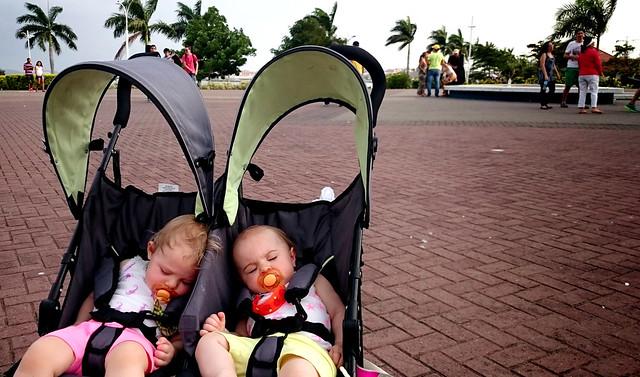 Twins sleeping in Panama