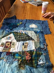 house quilt in progress