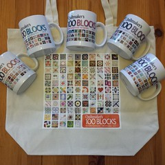 The #100blocks Vol. 11 tote bag is here to add to my collection. Thanks, @quiltmakermag!