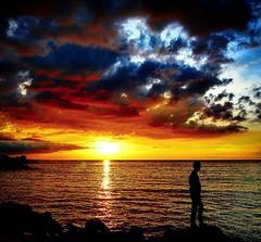Sunset at megamas  coast manado, late post
