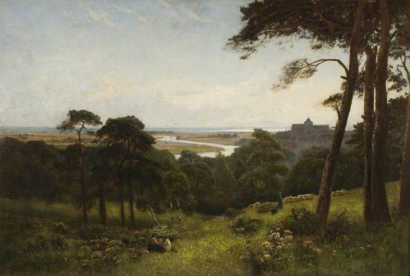 Arundel, Early Morning by Alfred East