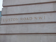 Wellcome Collection - Euston Road, London - sign - Euston Road NW1