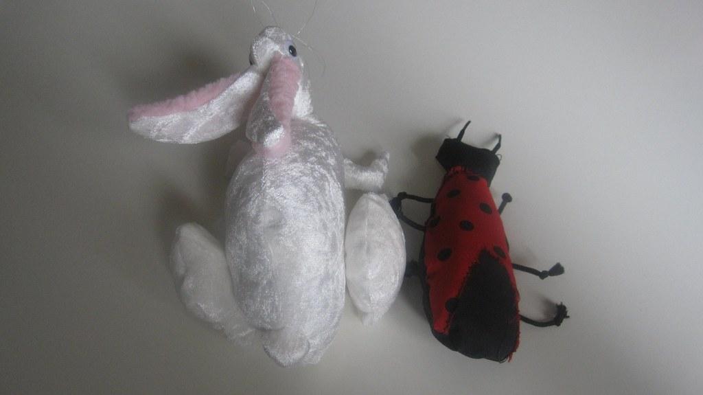 ladybug bunny stuffed animals homemade