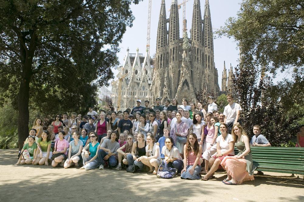 Boston Youth Symphony at La Sagrada de Familia in Barcelona, Spain