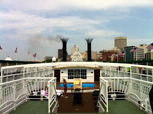 The upper deck of the American Queen