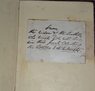 Widow's note - History of NSW by Rev. Lang 1852