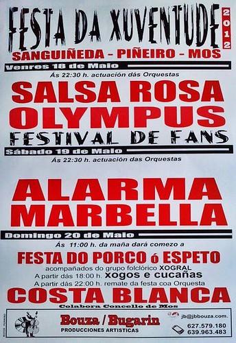 Mos 2012 - Festa da Xuventude en Sanguiñeda-Piñeiro - cartel