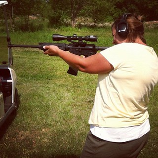 Shot my AR for the first time today, pretty sweet!