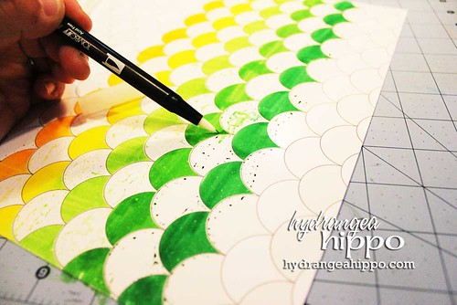 Its Anything But Healthy Layout Jennifer Priest for Tombow - Blending Colors
