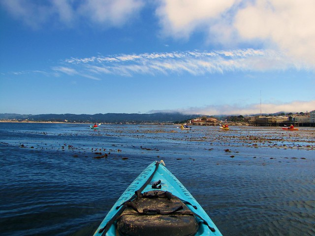 Looking at Monterey coastline and beautiful clouds