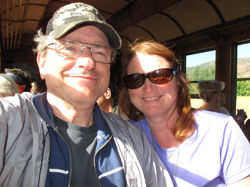 Sharon & Me in thetrain