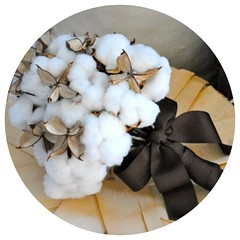 Cotton Boll Bridal Bouquet