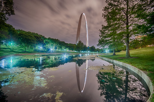 Night Time Reflection by Jeff.Hamm.Photography