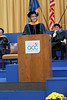 State Senator Catharine Young during her commencement address at Genesee Community College