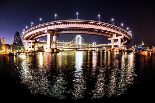 The Rainbow Bridge in Tokyo