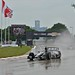 Dario Franchitti navigates Belle Isle in the rain
