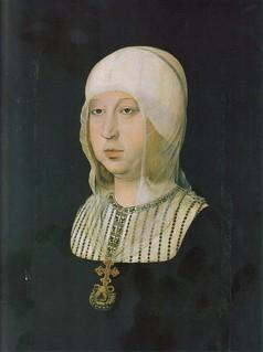Isabel la Católica, pintada por Juan de Flandes.