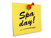 Spa day! White Background