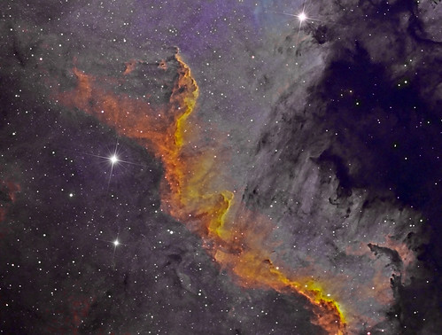 The Wall - NGC7000 - Colour by Mick Hyde