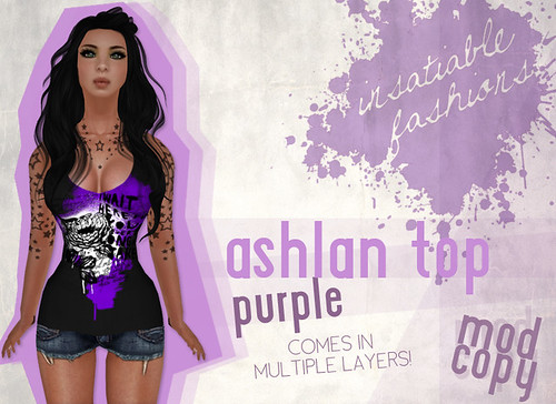 [IF] Thrift Shop Item: Ashlan Top in Purple - Tango Appliers available separately!