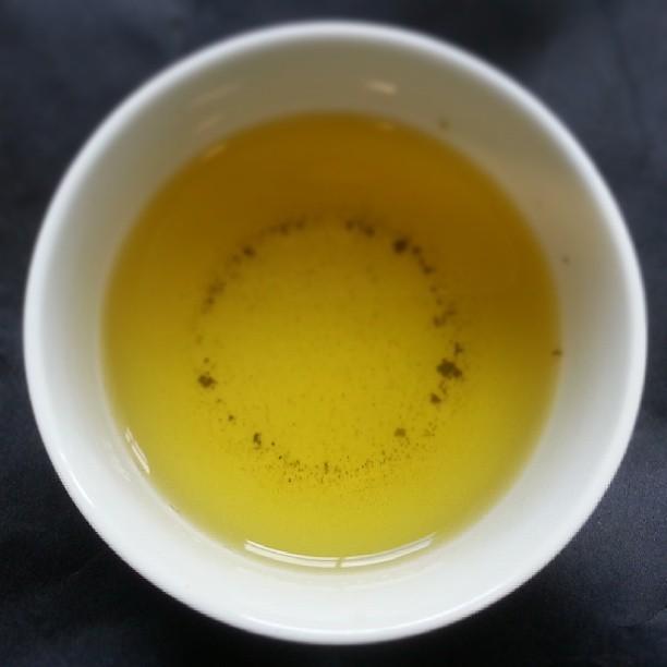 Green tea. Need to stay awake. I'm chanting as we speak...