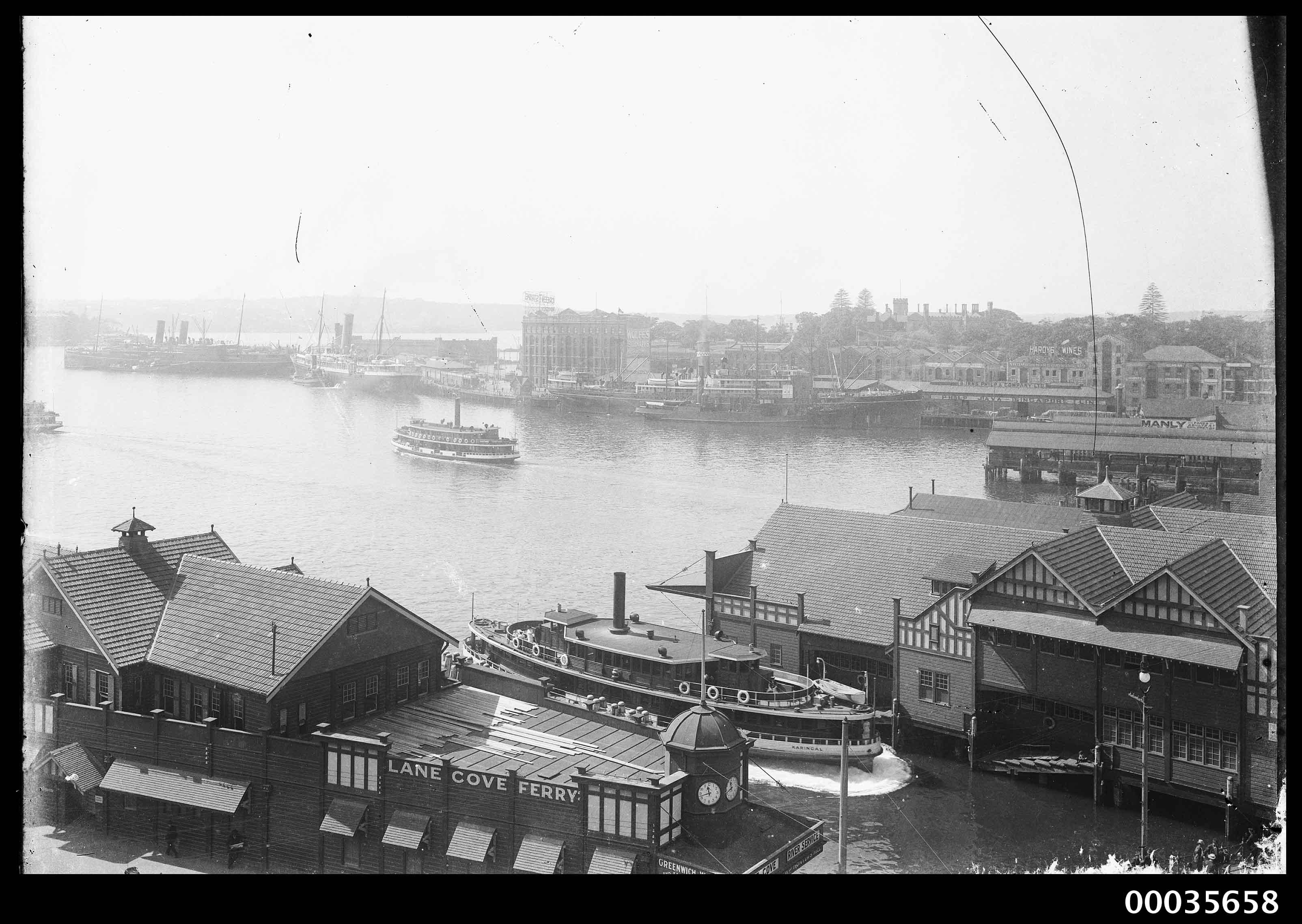 SS KARINGAL at ferry wharf in Circular Quay, Sydney, 1901-1953
