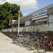 Fahrradständer am REWE-Supermarkt
