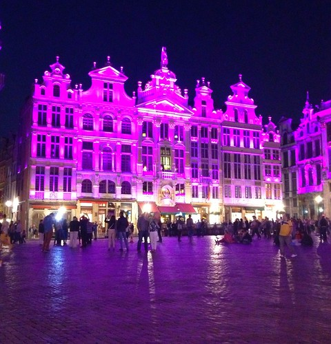 Grand Place Bruxelles. Light effects