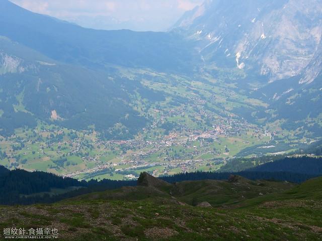 Overlooking Grindelwald on Kleine Scheidegg--Mannlichen