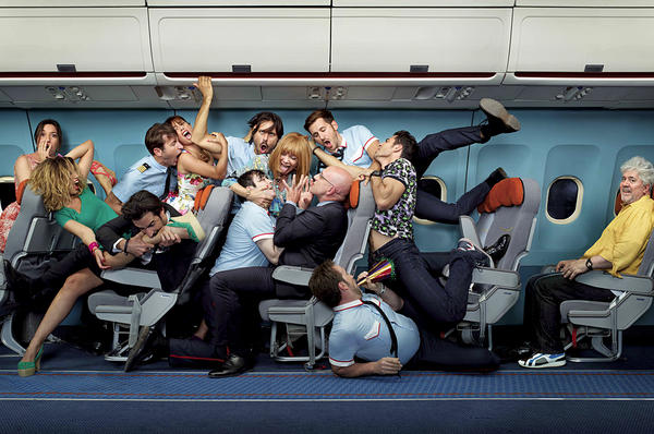 A jumble of colorful passengers in the I'm So Sexcited poster
