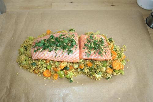 35 - Lachs auflegen / Add salmon