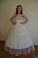 Scarlett O'Hara dress, hoopskirt, corset