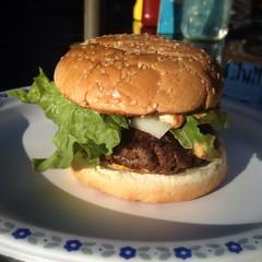 produce(0.0), breakfast sandwich(0.0), sandwich(1.0), meal(1.0), lunch(1.0), hamburger(1.0), veggie burger(1.0), food(1.0), whopper(1.0), dish(1.0), big mac(1.0), fast food(1.0), cheeseburger(1.0),