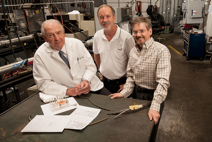 Previous leveraged-project winner Nanotitanium Dental Implants (Walt Shuman, Dan Blacklock and Terry Lowe)