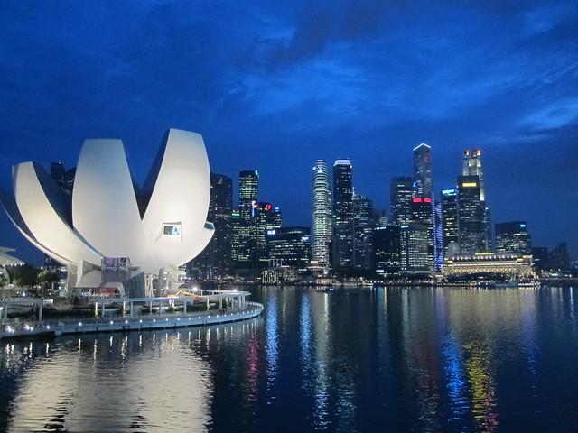 Вид на центр Сингапура