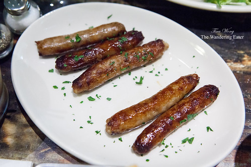 Side of pork, sage and black pepper sausages