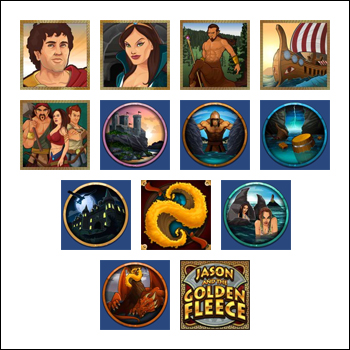 free Jason and the Golden Fleece slot game symbols